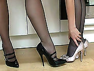 Two gorgeous babes in heels get personal about shoes and what naughty things they could do in them